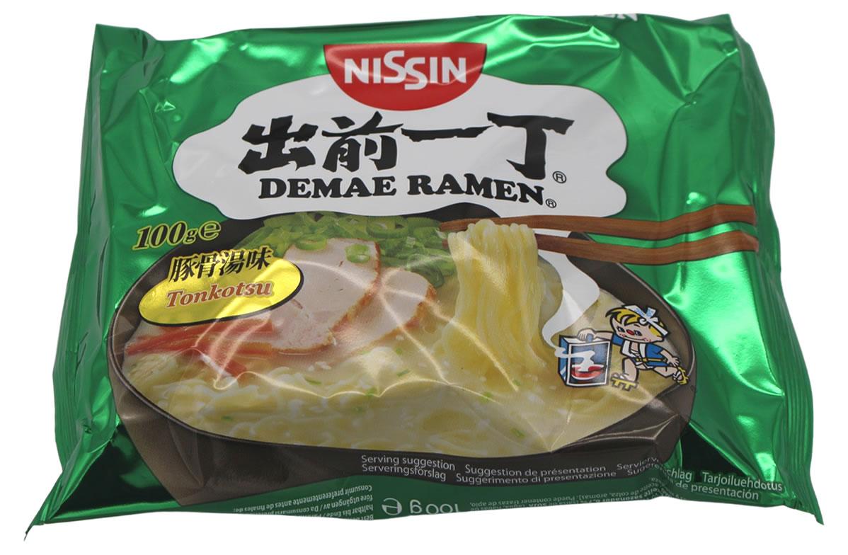 Nissin Demae Ramen Tonkotsu Instant Nudelsuppe, 100 g