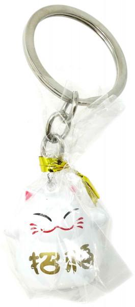 Glücks-Schlüsselanhänger mit Katzenmotiv