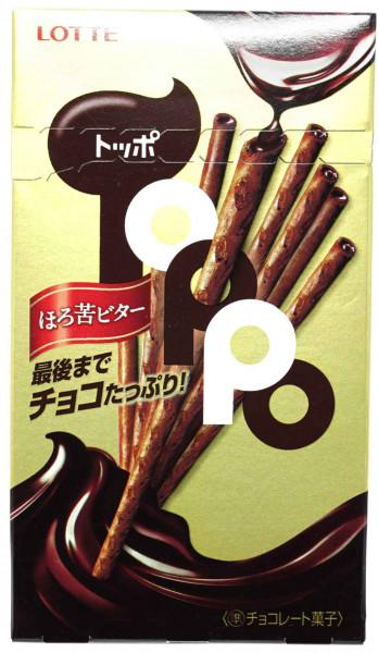 LOTTE Toppo Schokoladensnack Zartbitter, 72 g
