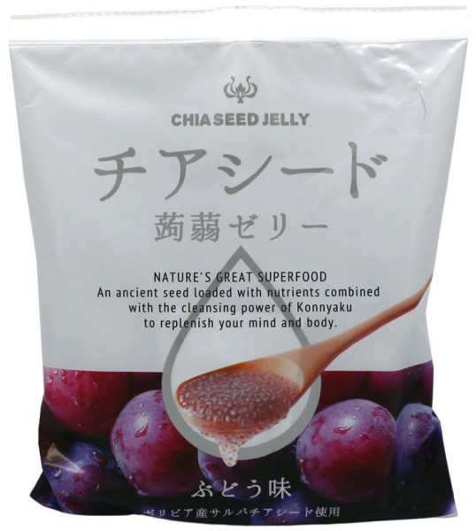 Wakashou Chia-Samen Jelly Traube, 165 g