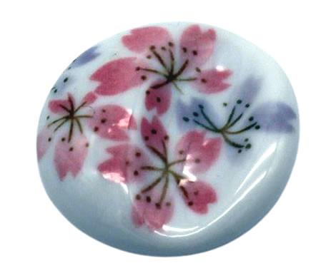 Essstäbchenhalter mit floralem Muster