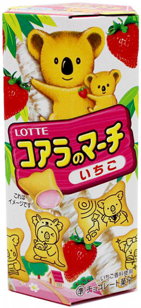 Lotte Koala no March Koala-Kekse mit Erdbeere, 48 g