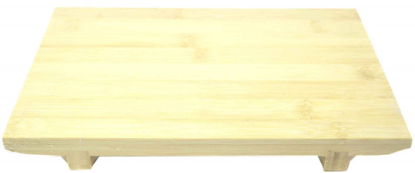 Sushi Servierbrettchen aus Bambus, 27x18x3 cm