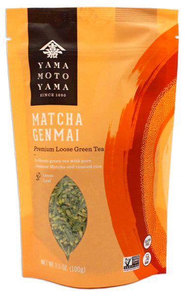 Yamamotoyama grüner Genmaicha-Tee mit Matcha, 100 g