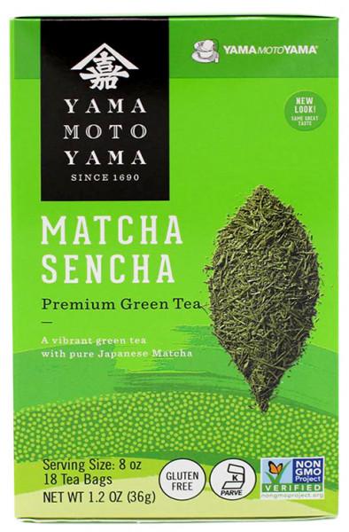 Yamamotoyama grüner Sencha-Tee mit Matcha im Teebeutel, 18 Teebeutel