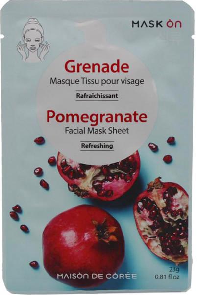 Erfrischende Gesichtsmaske mit Granatapfel