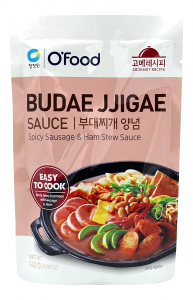 ChungJungOne Budae Jjigae Eintopf Sauce würzige Wurst, 140 g