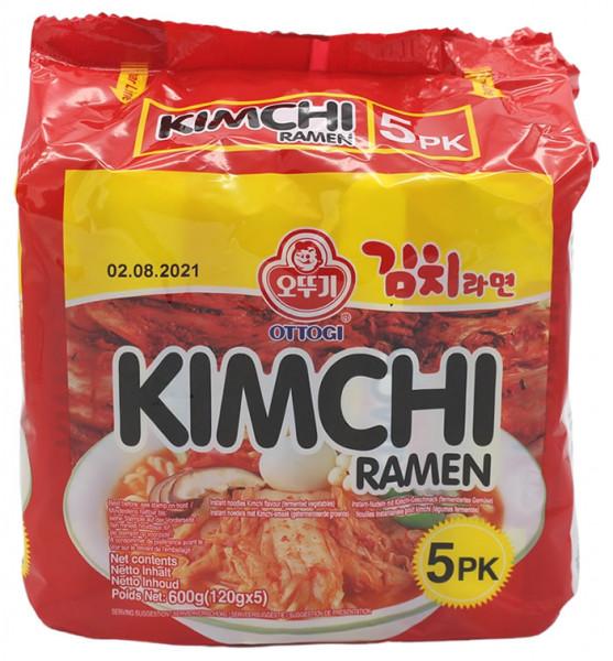 OTTOGI Kimchi Ramen, 5x 120 g