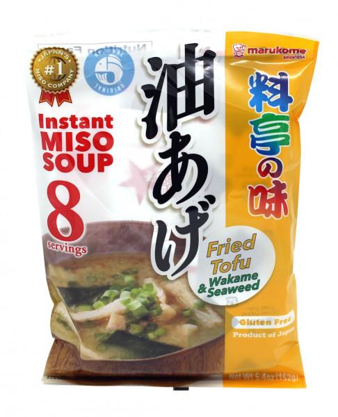 Marukome Instant Miso Suppe mit frittierten Tofu-Taschen, 152 g