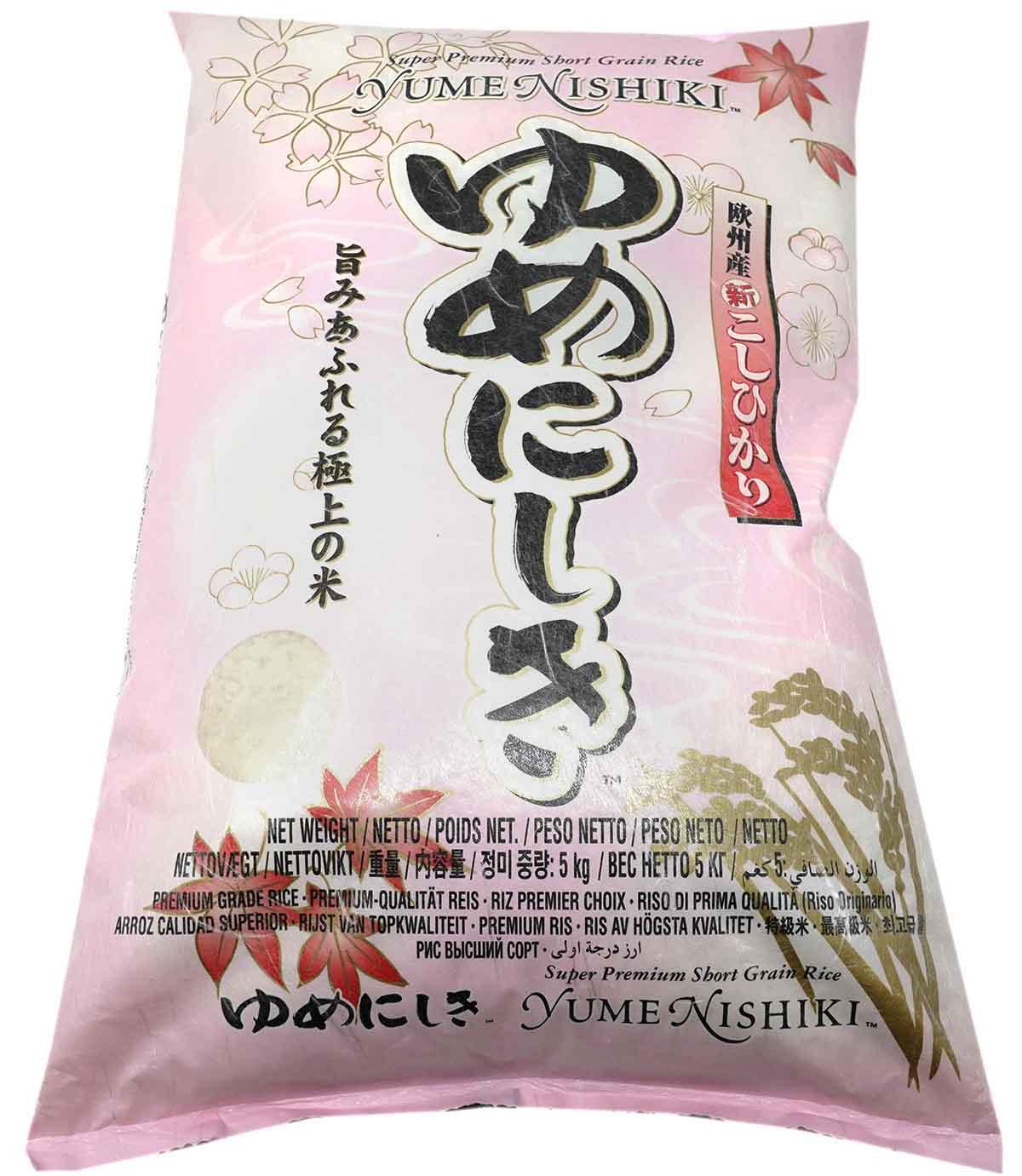 Yume Nishiki japanischer Premium Reis, 5 kg