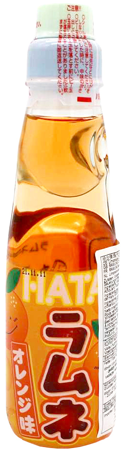 Hatakosen Ramune mit Orangen-Geschmack, 200 ml