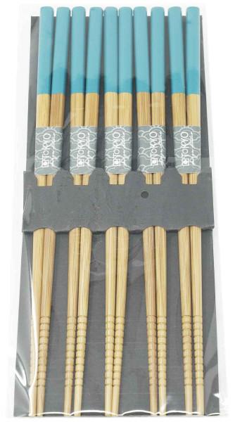 Essstäbchen-Set Petrol, 5 Paar, 22,5 cm
