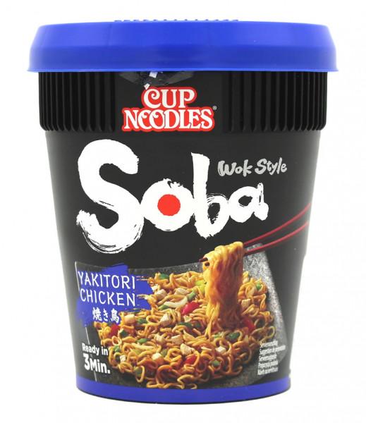 Nissin Soba Yakitori Chicken Cup Nudeln, 89 g