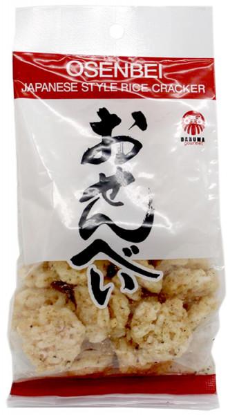 Daruma Osenbei-Reiscracker mit Pfeffer und Knoblauch, 50 g