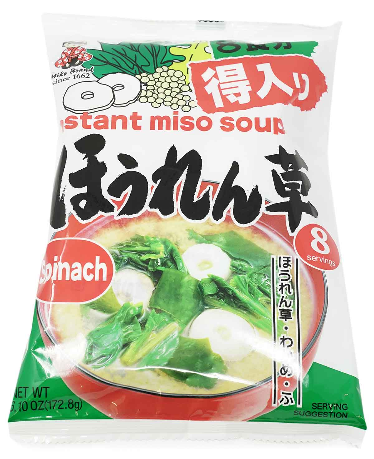 Miyasaka Tokuri Instant-Misosuppe mit Spinat, 172,8 g