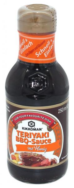 KIKKOMAN Teriyaki BBQ Sauce mit Honig, 250 ml