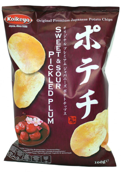 Japanische Kartoffelchips gesalzene Pflaume, 100 g