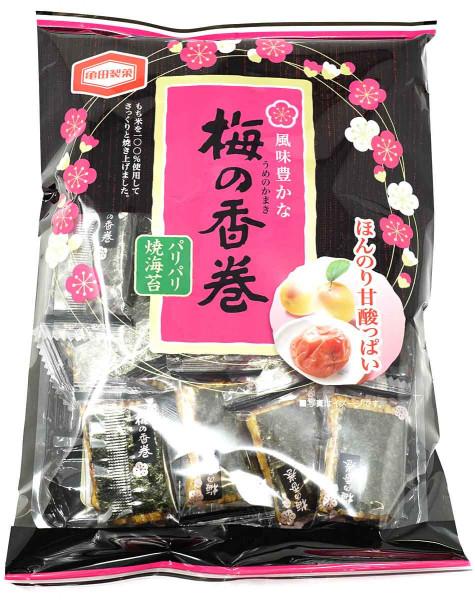 KAMEDA Umenokamaki Reiscracker japanische Pflaume, 16 Stück