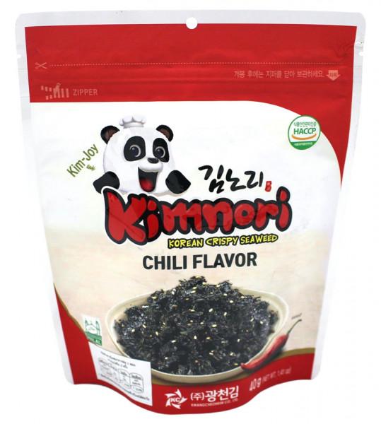 Kimnori Knusper-Seetang mit Chiligeschmack, 40 g