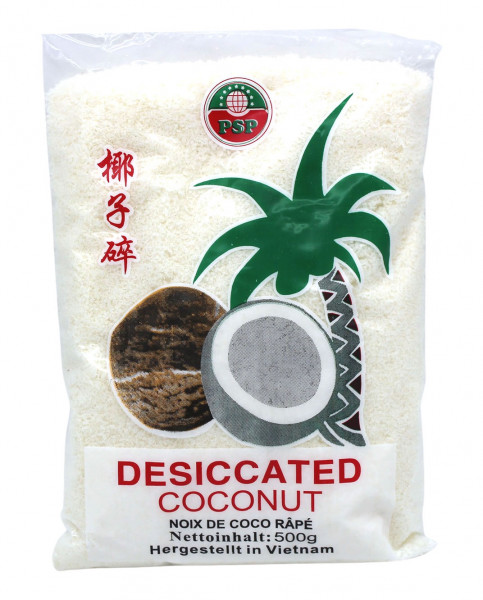 Kokosnuss geraspelt und getrocknet, 500 g