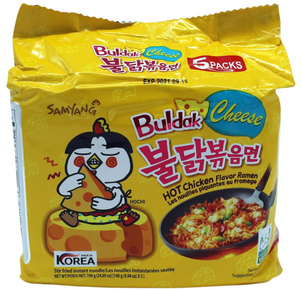 Samyang Hot Chicken Ramen Cheese, 5x 140 g