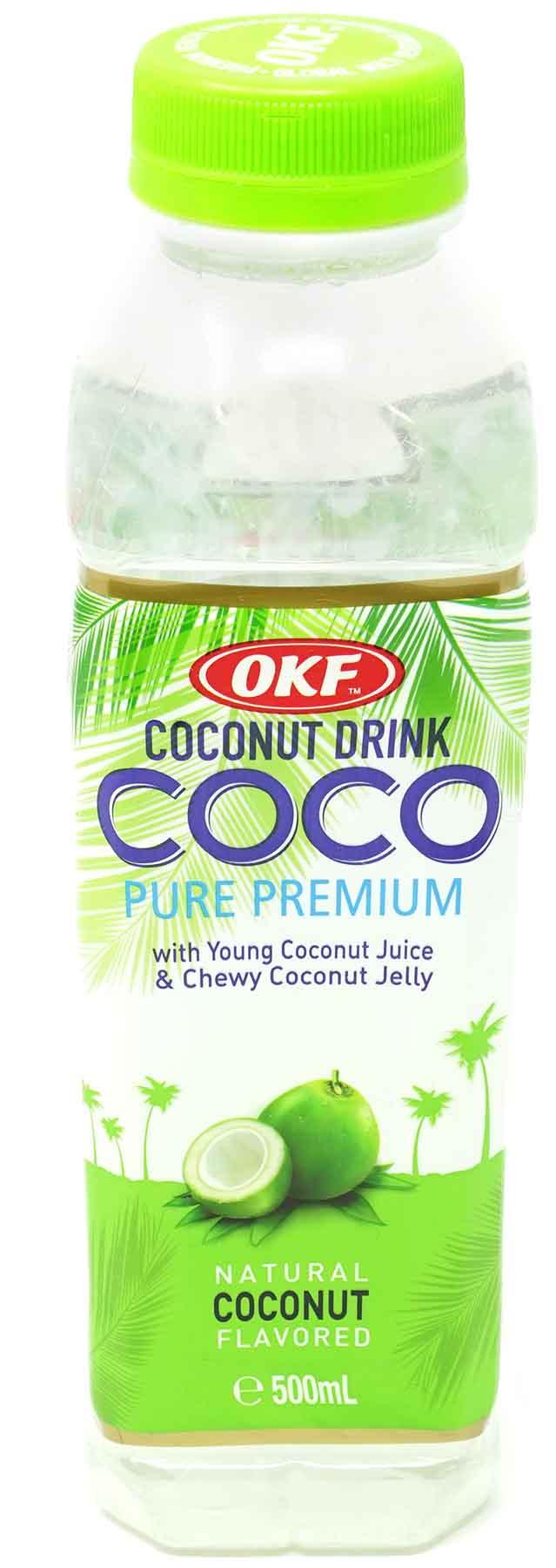 OKF Coco Natural Kokosnuss-Getränk, 500 ml