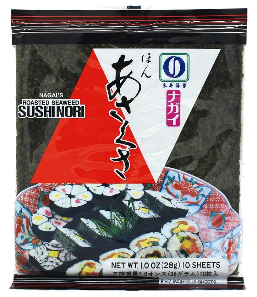 Nagai's, gerösteter Seetang Sushi Nori, 10 Stück