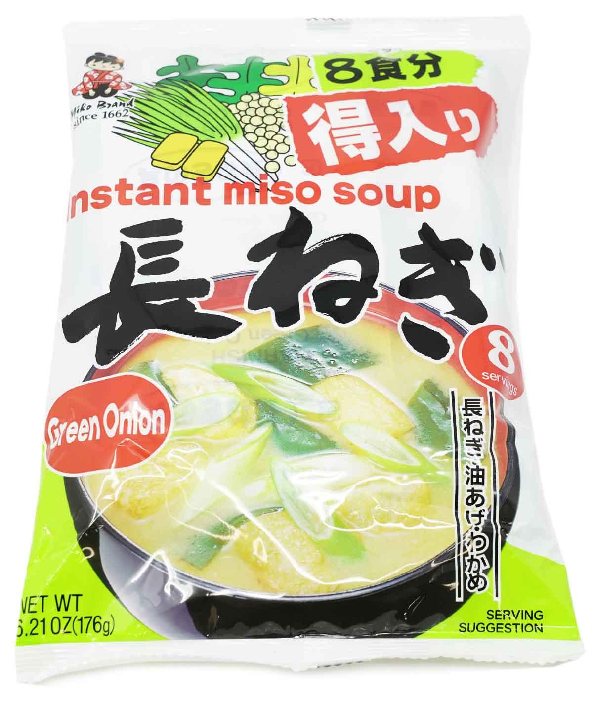 Miyasaka Miko Instant-Misosuppe mit Frühlingszwiebeln, 176 g