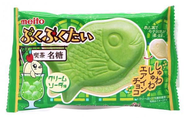 Meito Puku Puku Waffel Tai Cream Soda, 16,5 g