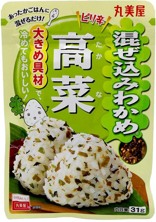 Marumiya Mazekomi Wakame Takana Reisgewürz mit Senf, Sesam und Algen, 31 g