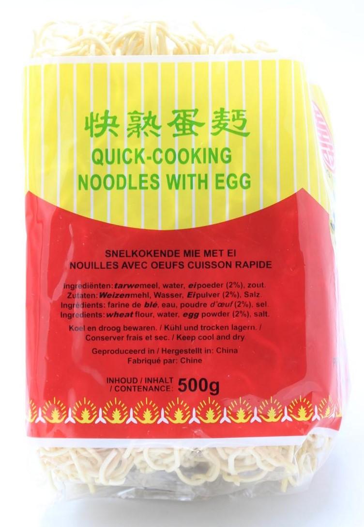 LONG LIFE Mie Nudeln schnellkochend mit Ei, 500g