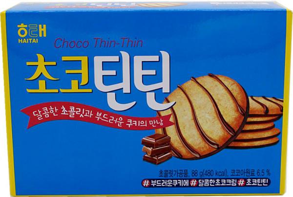 Haitai Choco Thin-Thin Schokoladenkekse, 88 g