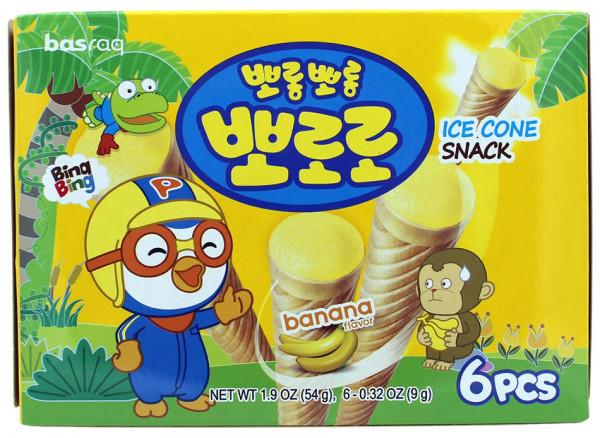 PORORO Koreanischer Eiswaffel-Snack Banane, 54 g