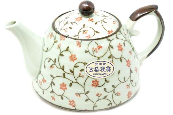 Japanische Teekanne mit floralem Muster, 500 ml