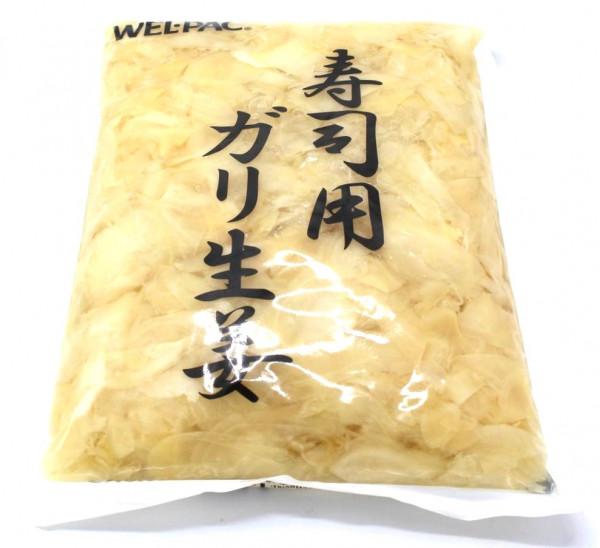 Welpac Gari Shiro eingelegter Sushi-Ingwer, 1 kg