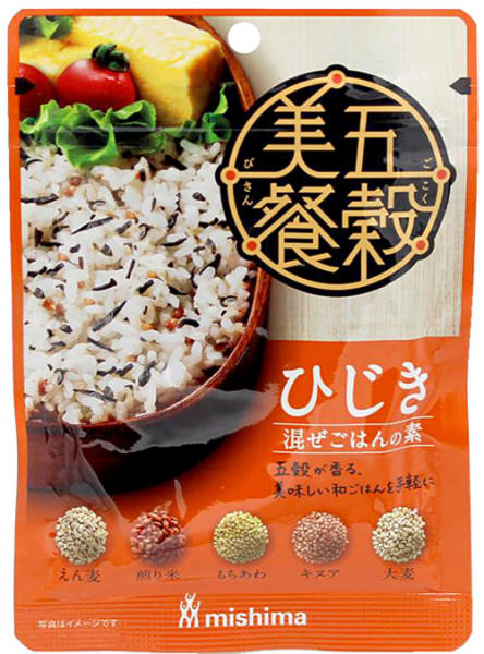 Mishima Gokokubisan Hijiki Reisgewürz mit Seetang und Getreide, 24 g