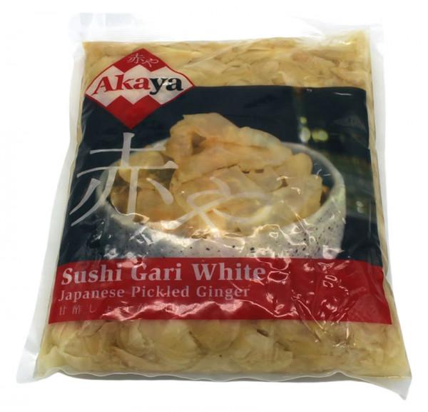 Akaya eingelegter Sushi-Ingwer weiß, 1 kg