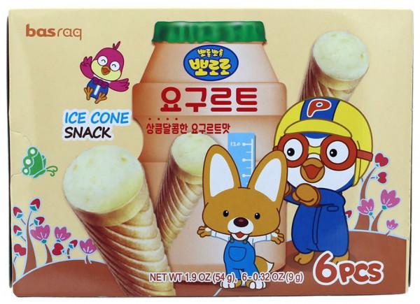 PORORO Koreanischer Eiswaffel-Snack Joghurt, 54 g
