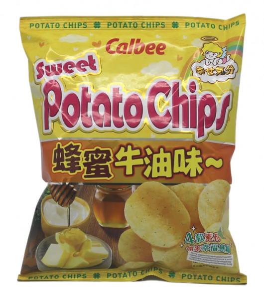 Calbee Kartoffelchips Honig und Butter Geschmack, 55 g