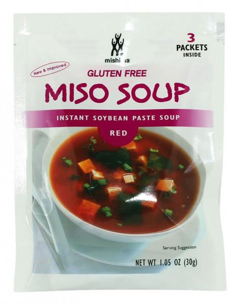 Instant Sojabohnenpaste rot für Misosuppe, 30 g