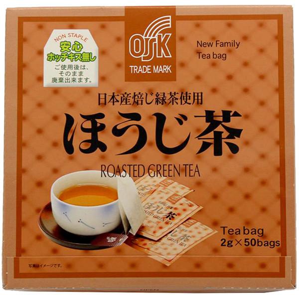 OSK Hojicha gerösteter grüner Tee, 50 Teebeutel je 2 g