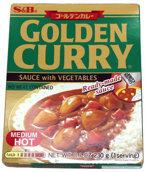 Golden Curry Currysauce mit Gemüse mittelscharf, 230 g