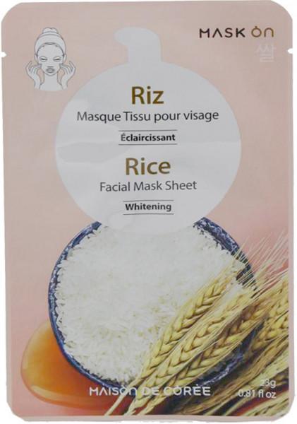 Aufhellende Gesichtsmaske mit Reis