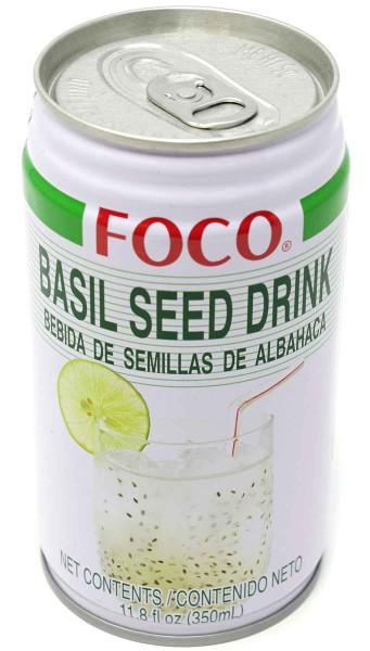 Foco Drink mit Basilikumsamen, 350 ml