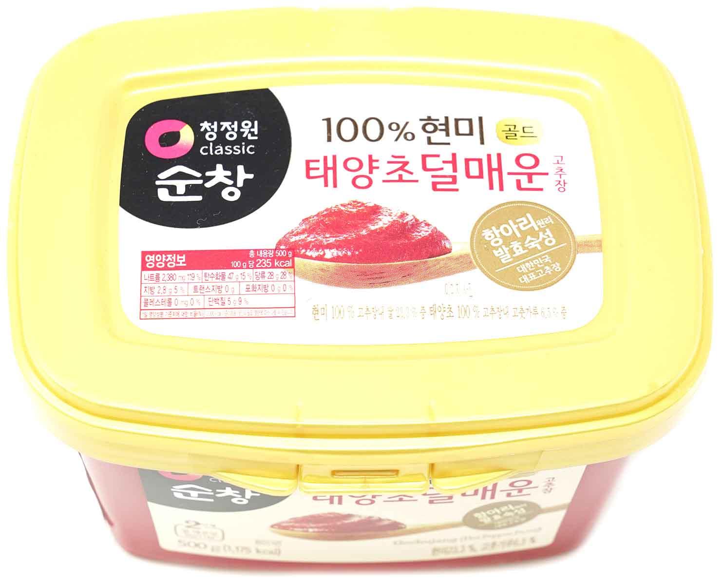 CJW Chili-Sojabohnenpaste mittelscharf, 500 g