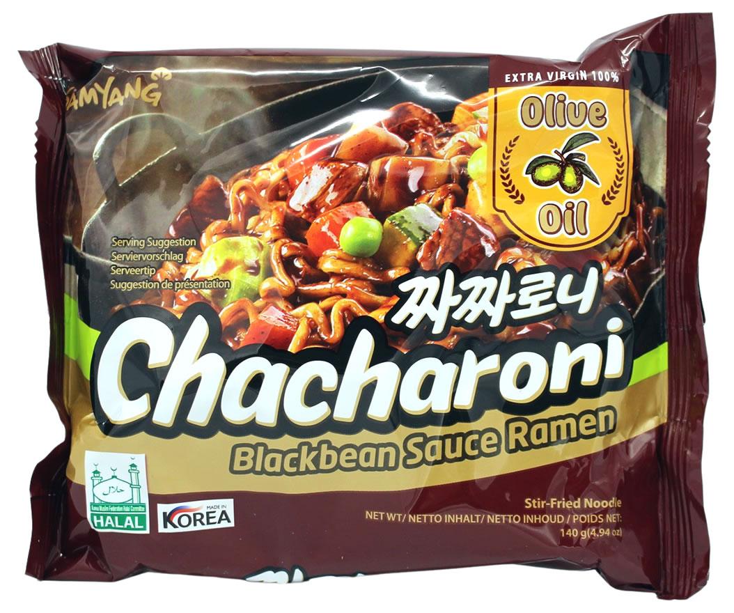 Samyang Chacharoni Koreanische Instant Nudeln mit Sojabohnenpaste, 140 g
