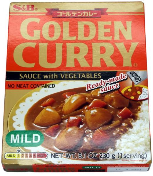 Golden Curry Currysauce mit Gemüse mild, 230 g