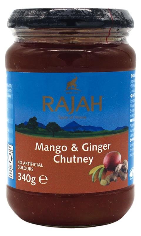 Rajah Mango-Ingwer Chutney, 340 g