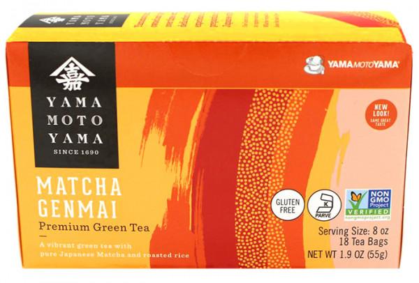 Yamamotoyama grüner Genmaicha-Tee mit Matcha, 18 Teebeutel