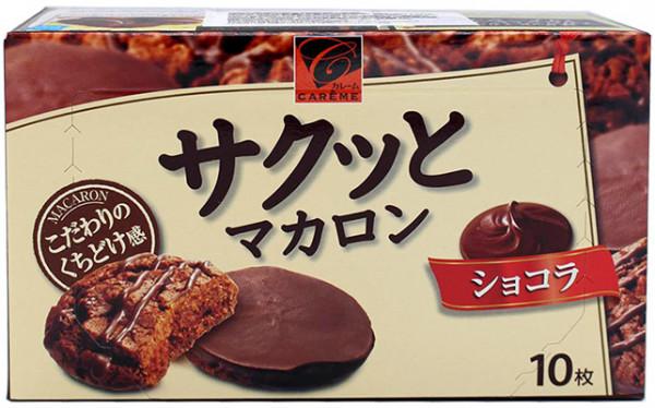 Kabaya Sakutto schokoladenüberzogenes Makronengebäck, 90 g